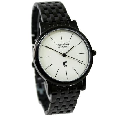 Arseprince 杜克生活時尚中性錶-黑白