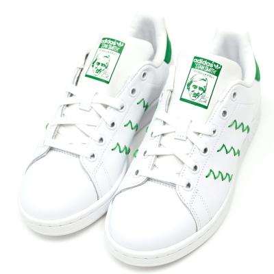 ADIDAS-STAN SMITH W女休閒鞋-白綠