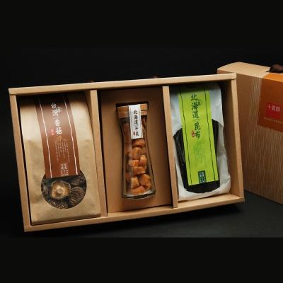 十翼饌 喜迎春山海珍味絕品禮盒(宗谷干貝SA級100g+香菇110g+厚岸昆布80g)