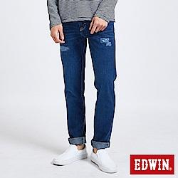 EDWIN 503補丁磨破AB褲 -男-中古藍