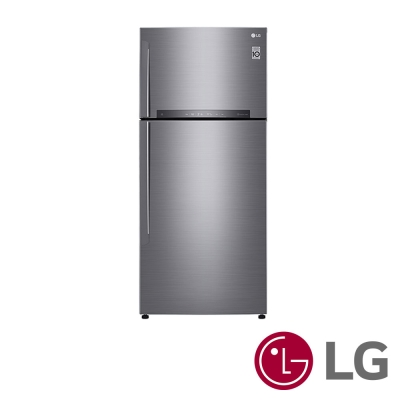 [無卡分期12期]LG 525公升銀色 魔術藏鮮上下門冰箱(GN-HL567SV )