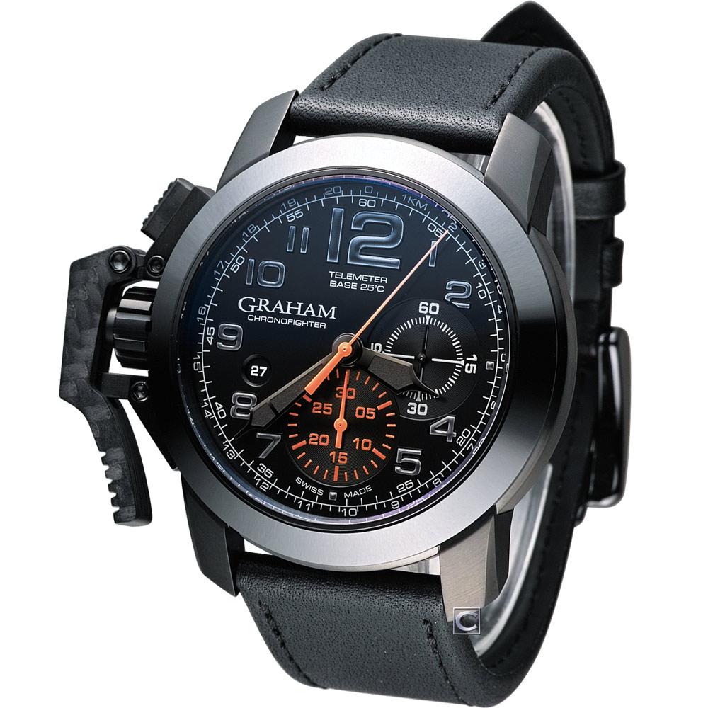 GRAHAM Chronofighter Oversize 左冠計時機械腕錶-46mm