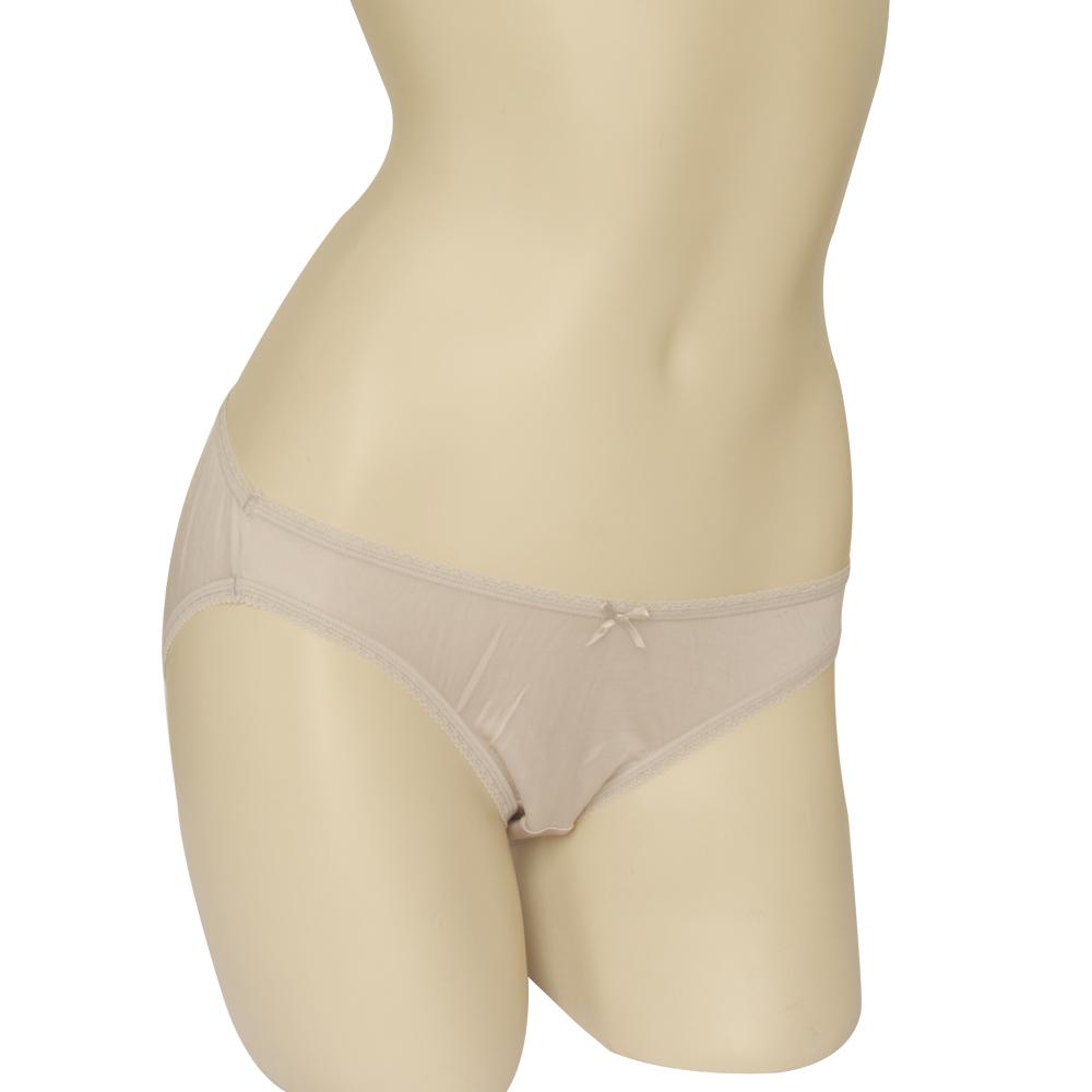 三角褲 100%蠶絲蝴蝶結低腰內褲M-XL(銀灰) Seraphic