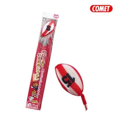 日本COMET 木天蓼伸縮逗貓棒 橄欖球