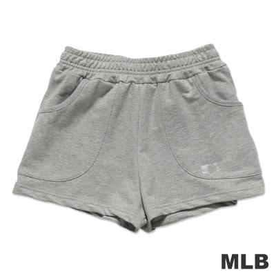 MLB-美國職棒大聯盟印花休閒短褲-麻灰-女