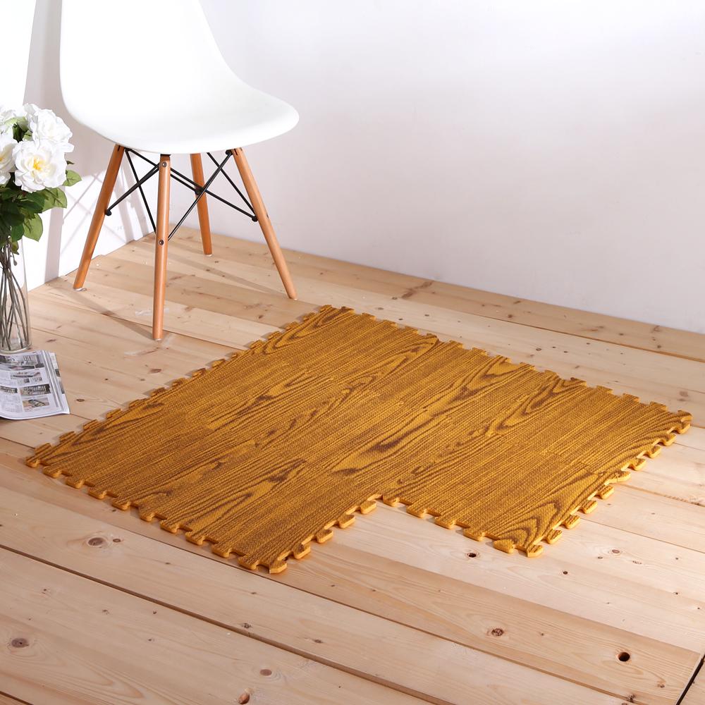 E&J-環保木紋圖樣巧拼地墊(64片)30*30cm