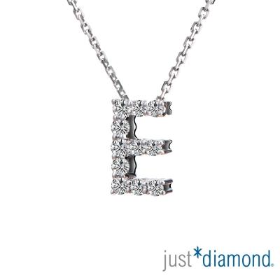 Just Diamond Love Words系列18K金鑽石墜子-E