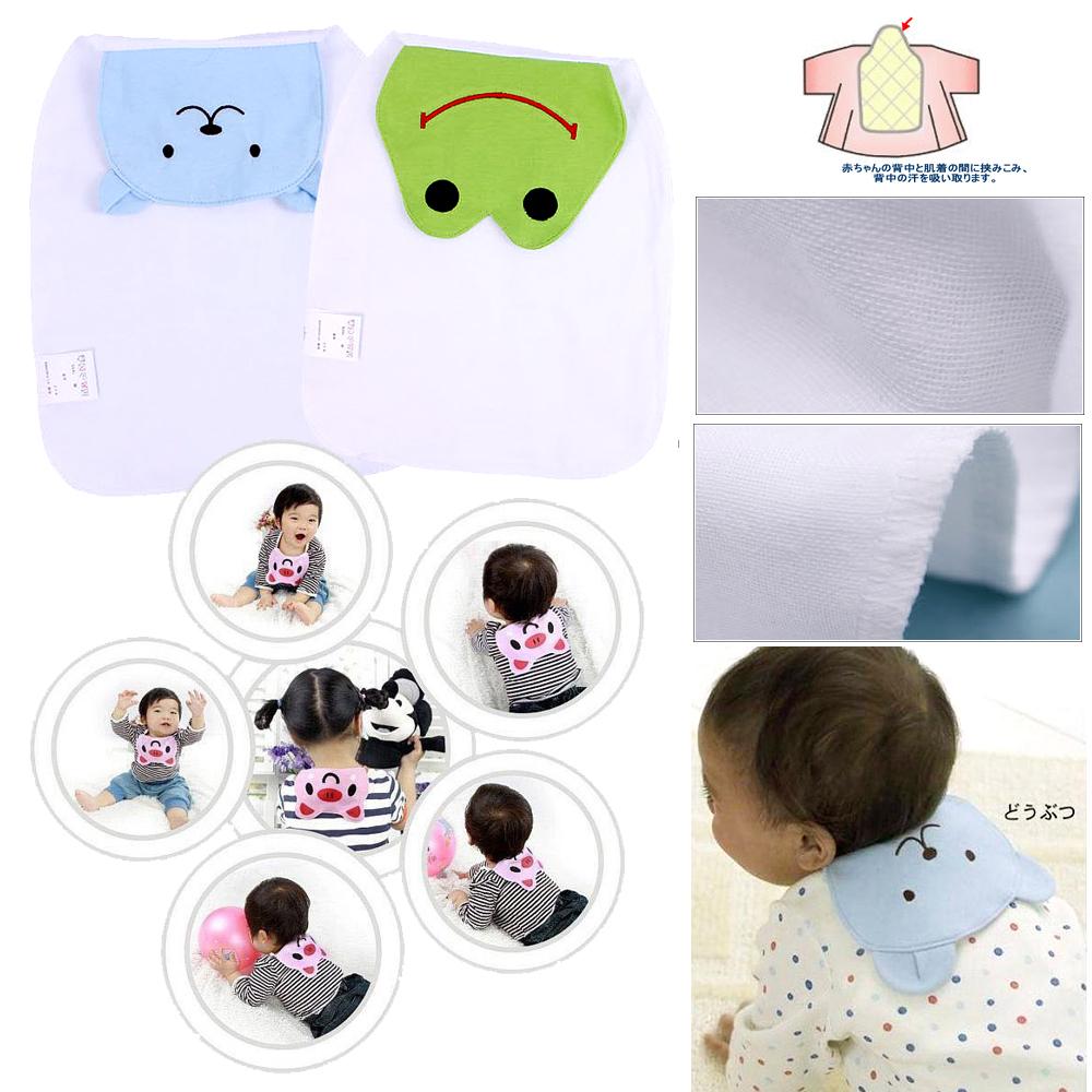 kiret日本紗布巾吸汗巾墊背圍兜2入組嬰兒用品款式隨機