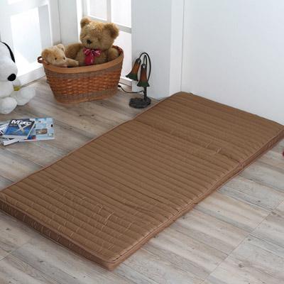《星辰》巧克力冬夏兩用折疊床墊-單人