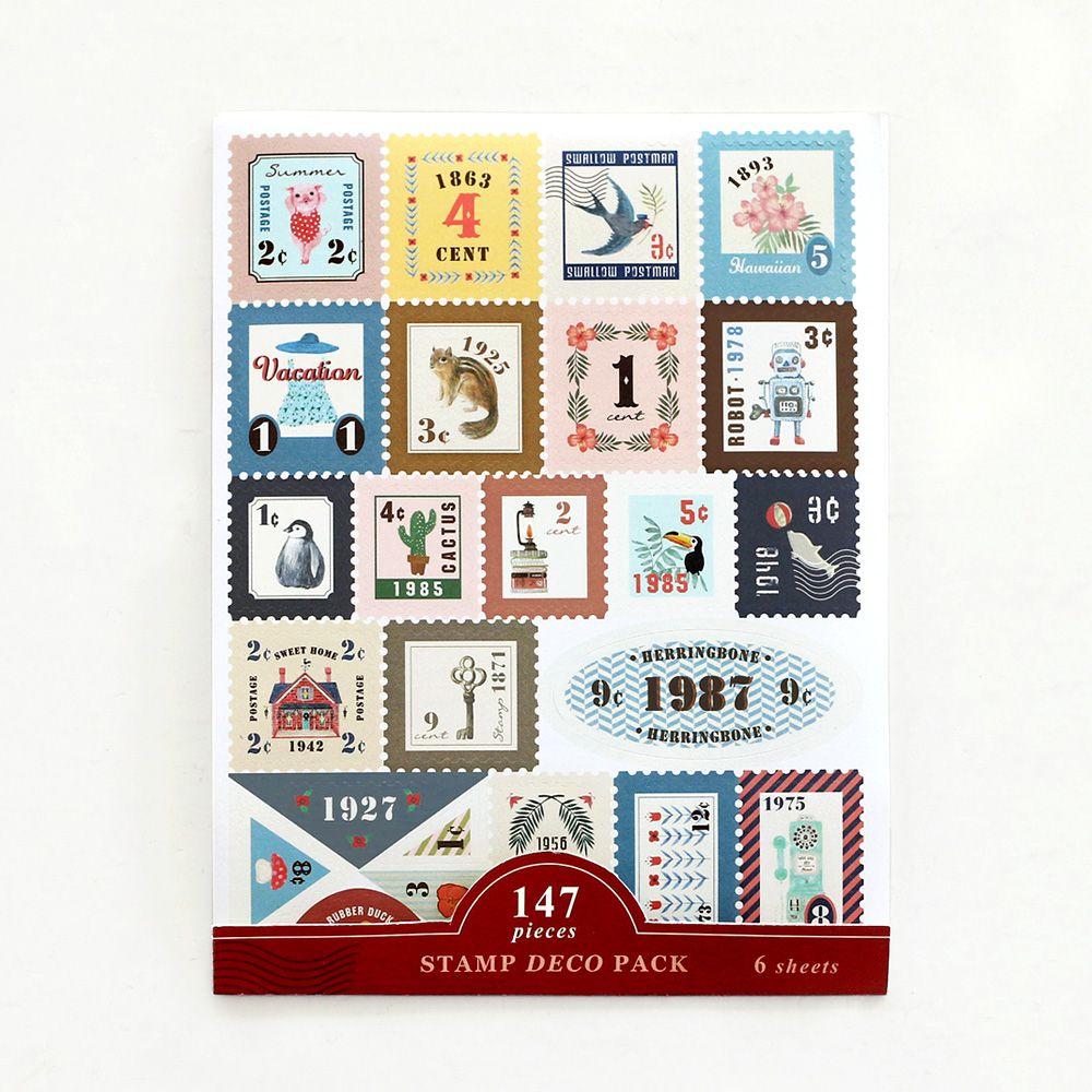 ICONIC 147復古郵票貼紙組(6入)