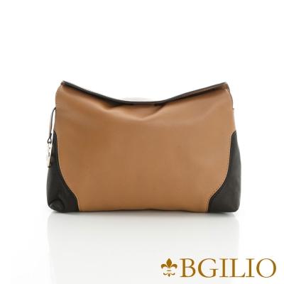 義大利BGilio-優雅簡約隨身小側肩背包-駝色2