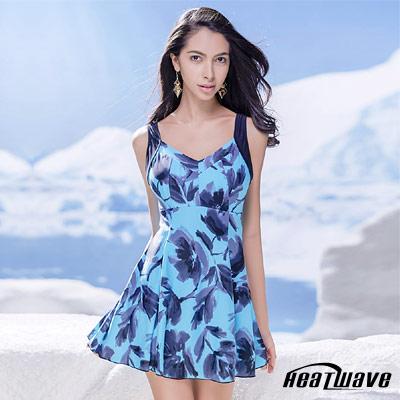 Heatwave熱浪 連身裙泳裝-冰玉藍 (有加大尺寸)