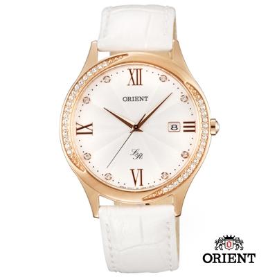 ORIENT 東方錶 LADY ROSE系列 浪漫晶鑽錶女款-玫瑰金色/36.5mm