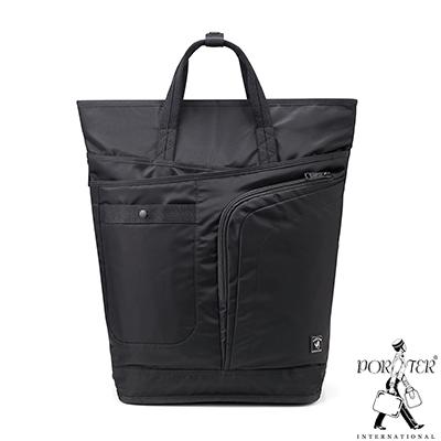 PORTER - 輕量出擊 ACT手提後背時尚二用包 - 黑
