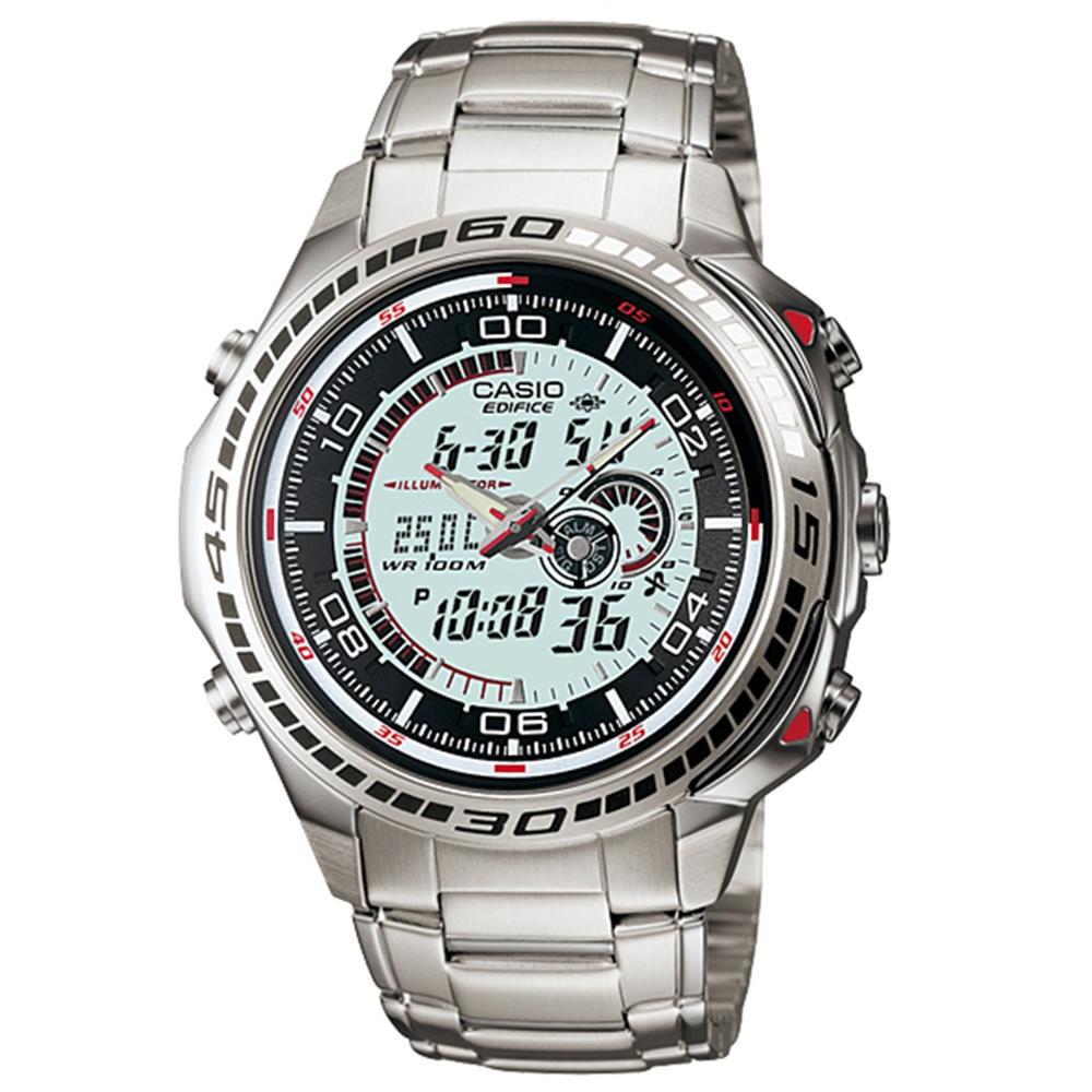 CASIO 第二代極速雙顯城市腕錶(白)