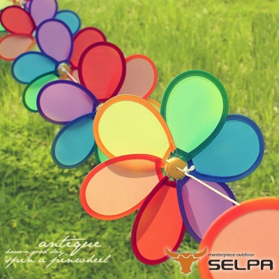 韓國SELPA 繽紛飾品 花朵串旗 掛旗 8P