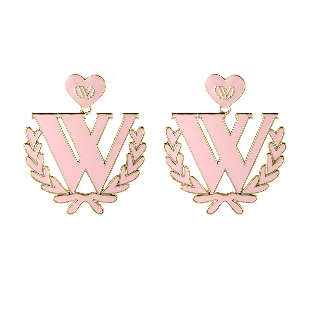 【Wildfox Couture】野狐粉嫩W英文字母  耳環