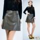 MONS-小A-Line羊皮短裙-共二色