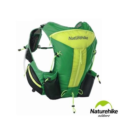 Naturehike 12L輕量化背心式越野跑步後背包 水袋包 綠色-急