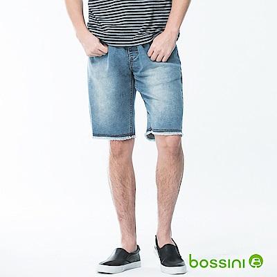 bossini男裝-牛仔休閒短褲02靛藍