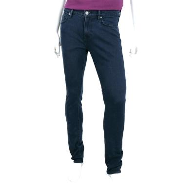 BURBERRY   深藍色修身剪裁彈性牛仔褲(男款)