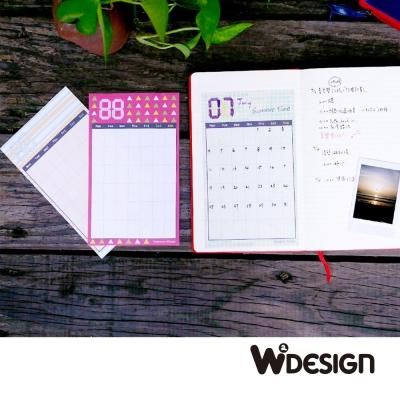 W2Design DIY手帳月曆貼-三入組(清新生活+青春歲月+花漾時紛)
