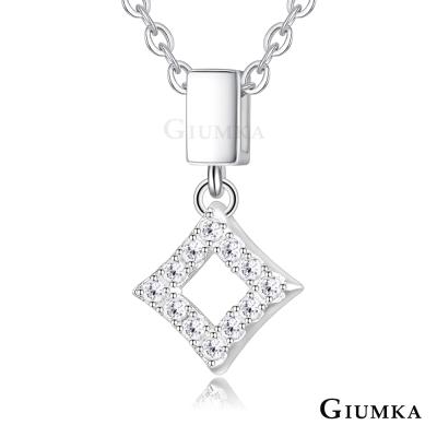 GIUMKA 925純銀項鍊 小菱形 純銀女鍊