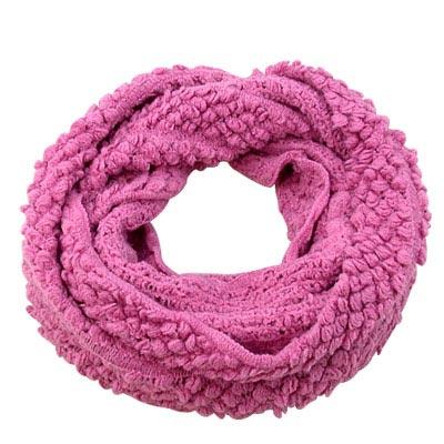 【Decoy】橫點編織*輕盈保暖圍脖套/粉