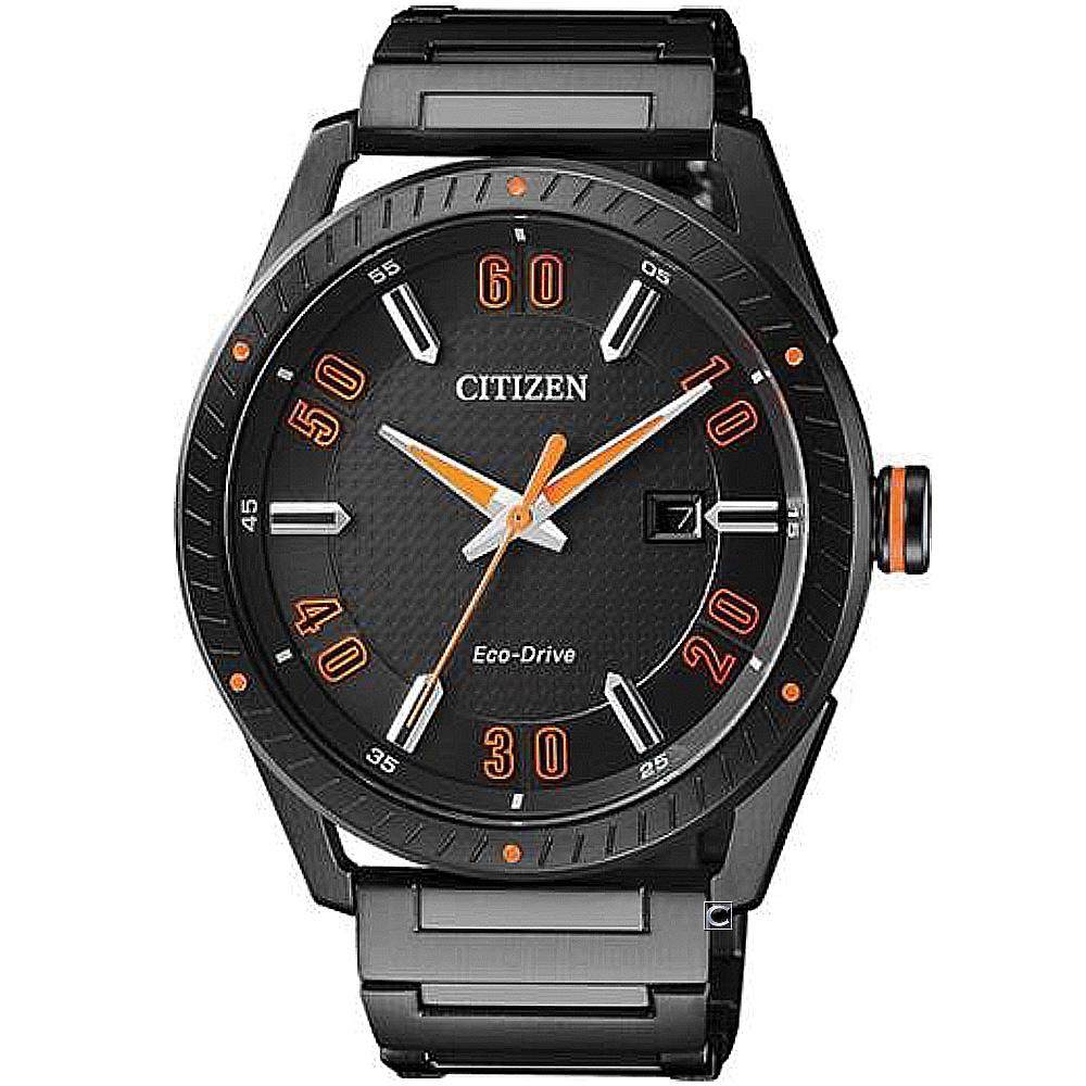 CITIZEN 時尚商務腕錶(BM6998-88E)-黑色/42mm