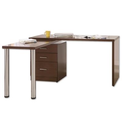 Boden-凱希4.9尺多功能旋轉桌/工作桌(胡桃色)-146x60~146x78cm