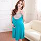 哺乳衣 陽光動人 深色系孕婦洋裝月子服(綠F) 天使霓裳 product thumbnail 1