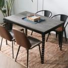 H&D 角鋼美學-工業風免鎖角鋼餐桌/工作桌-4色(122x76x75cm)