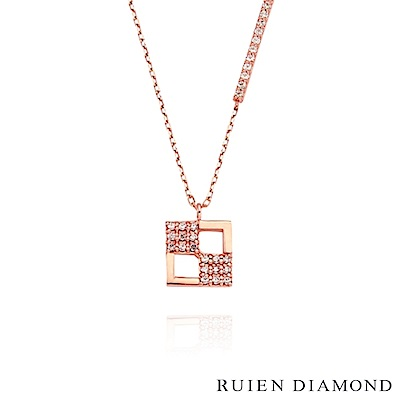RUIEN DIAMOND 韓國輕珠寶 飾品 配件14K玫瑰金 項鍊 LN149