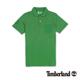 Timberland 男款綠色素面刺繡短袖P