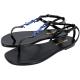 YSL Saint Laurent NU PIEDS 05 夾腳涼鞋(黑x藍) product thumbnail 1