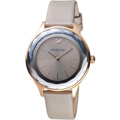 SWAROVSKI 施華洛世奇 Octea Nova系列都市切面腕錶-36mm/灰褐色