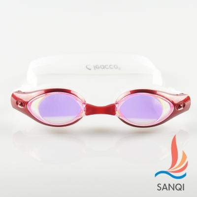 SANQI三奇 夏日必備抗UV防霧休閒泳鏡(7900-紅F)
