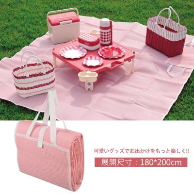 日本鹿牌Pearl CielCiel 日式野餐墊180x200cm-粉紅
