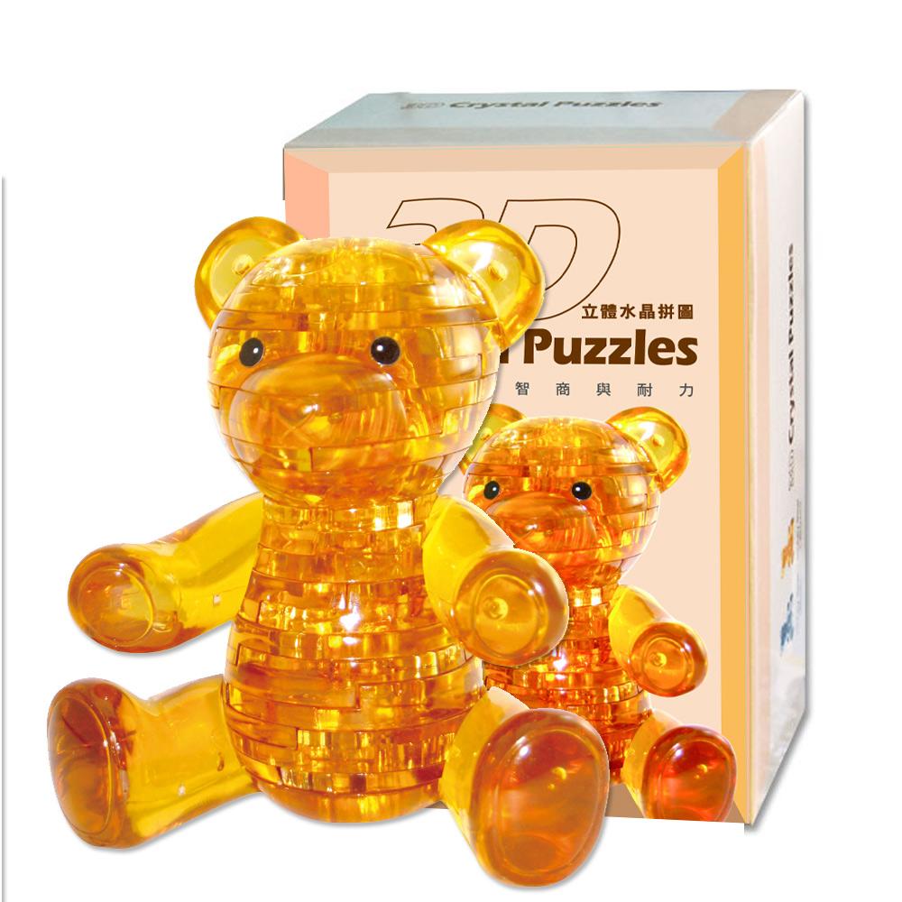 《立體水晶拼圖》3D Crystal Puzzles 甜蜜小熊(棕色)