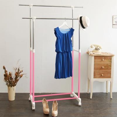IKLOO宜酷屋 台製時尚雙桿延伸曬衣架