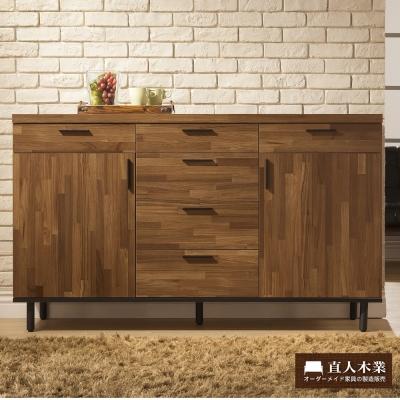 日本直人木業傢俱-工業生活150CM廚櫃-(150x40x88cm)免組