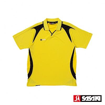 SASAKI 長效性吸濕排汗專業足球短衫-男-巴西黃/黑