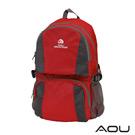 AOU 商務旅行多層背包 輕量防潑水護脊紓壓機能後背包(摩登紅)68-095