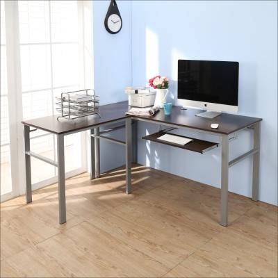 BuyJM低甲醛防潑水L型160+80公分單鍵盤穩重型工作桌-DIY