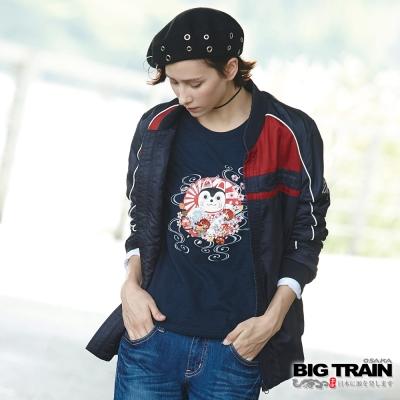 BIG TRAIN 騎士型保暖外套-男-丈青