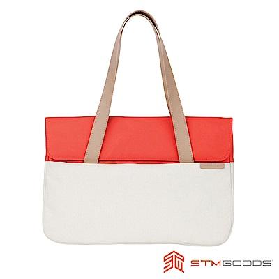 澳洲 STM Grace 15吋優雅時尚筆電托特包 - 珊瑚橘