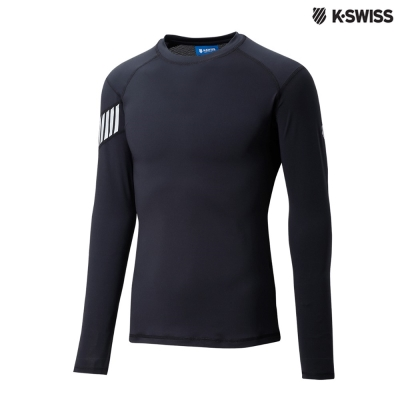 K-Swiss Performance LS Tee運動長袖T恤-男-黑