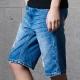 短褲 補丁牛仔短褲(3色)-CACO
