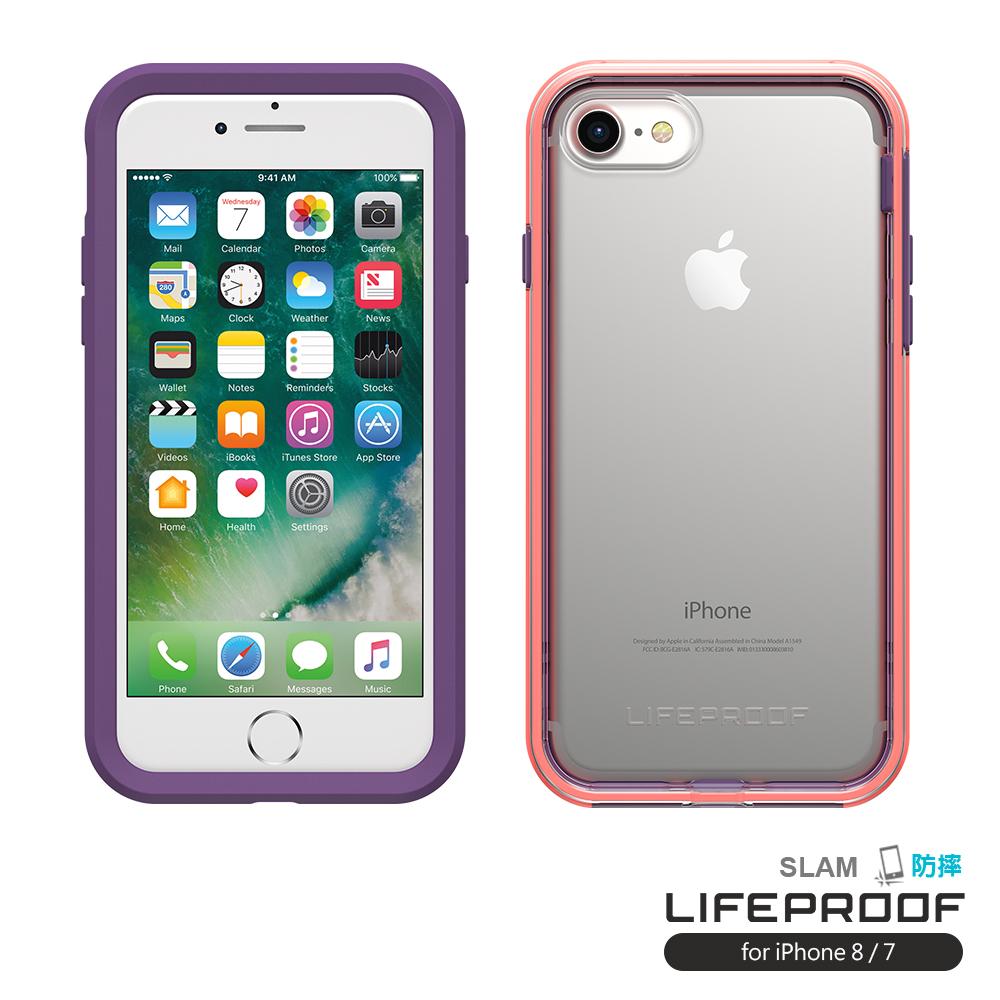 LIFEPROOF iPhone8/7專用 吸震抗衝擊防摔手機殼-SLAM(紫粉)