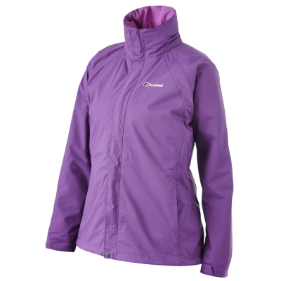 【Berghaus貝豪斯】女款AQ2二件式刷毛外套H22FQ5-紫